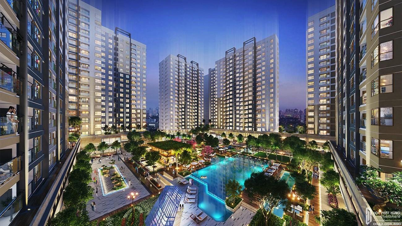 Phối cảnh căn hộ chung cư dự án New Galaxy Dĩ An Bình Dương Đường Đường Thống Nhất chủ đầu tư Hưng Thịnh
