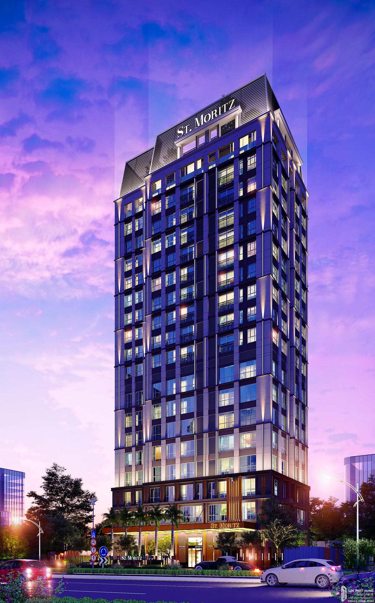 Phối cảnh dự án căn hộ chung cư ST Moritz Thu Duc Đường Phạm Văn Đồng chủ đầu tư Đất Xanh