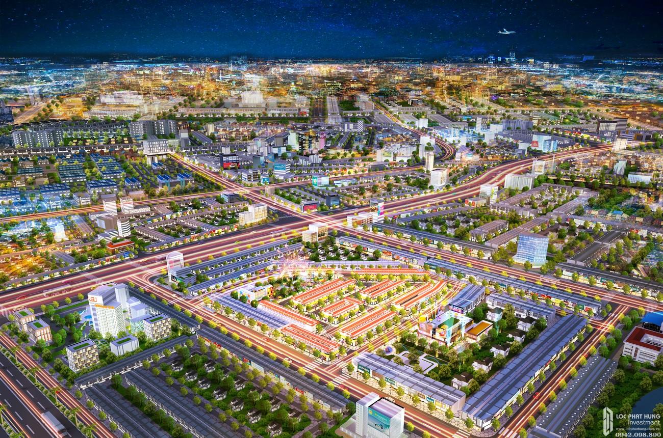 Phối cảnh dự án đất nền nhà phố Bình Dương Avenue City Bến Cát Đường Quốc lộ 13 chủ đầu tư Phú Cường