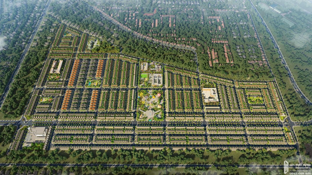 Phối cảnh tổng thể dự án nhà phố đất nền Gem Sky World Đất Xanh Đường Quốc Lộ 51 Long Thành