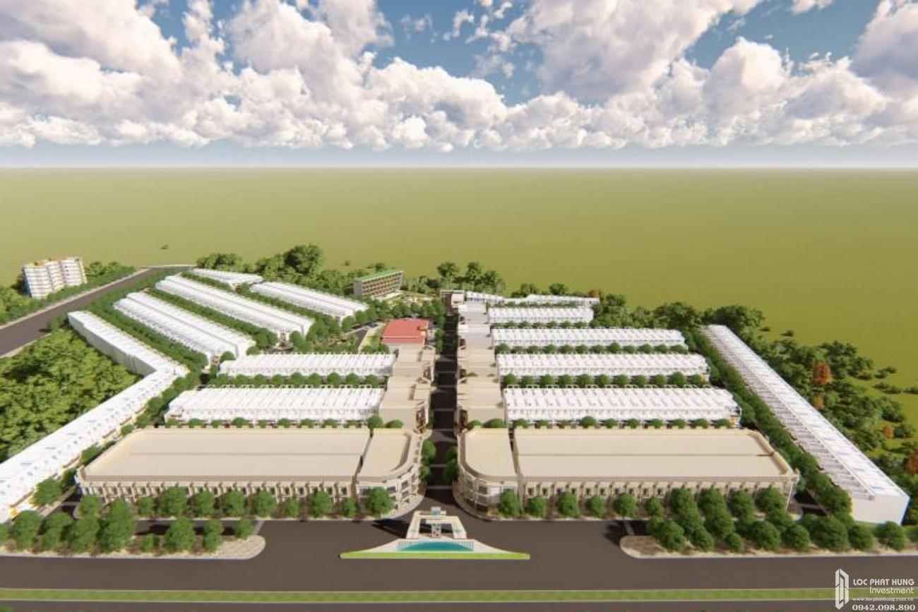 Phối cảnh tổng thể dự án đất nền Victory City Bắc Tân Uyên Đường DT 746 chủ đầu tư Tân Lập