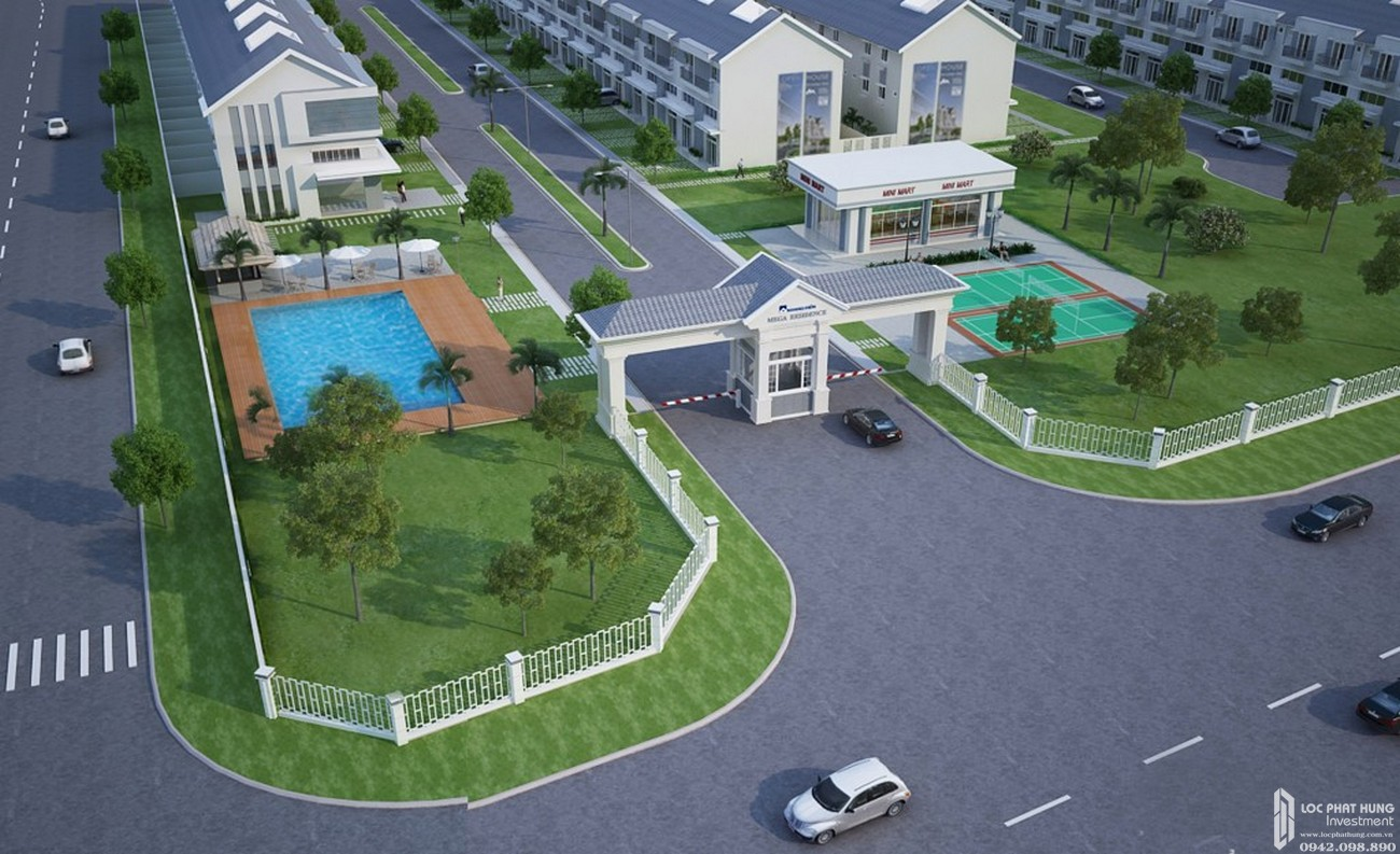 Phối cảnh tổng thể dự án nhà phố Mega Ruby Quận 9 chủ đầu tư Khang Điền