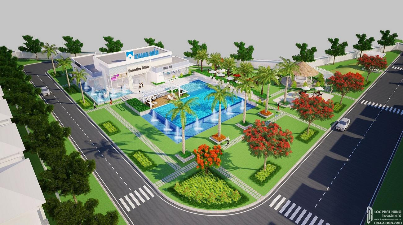 Phối cảnh tổng thể dự án nhà phố Merita Quận 9 Đường Liên Phường chủ đầu tư Khang Điền