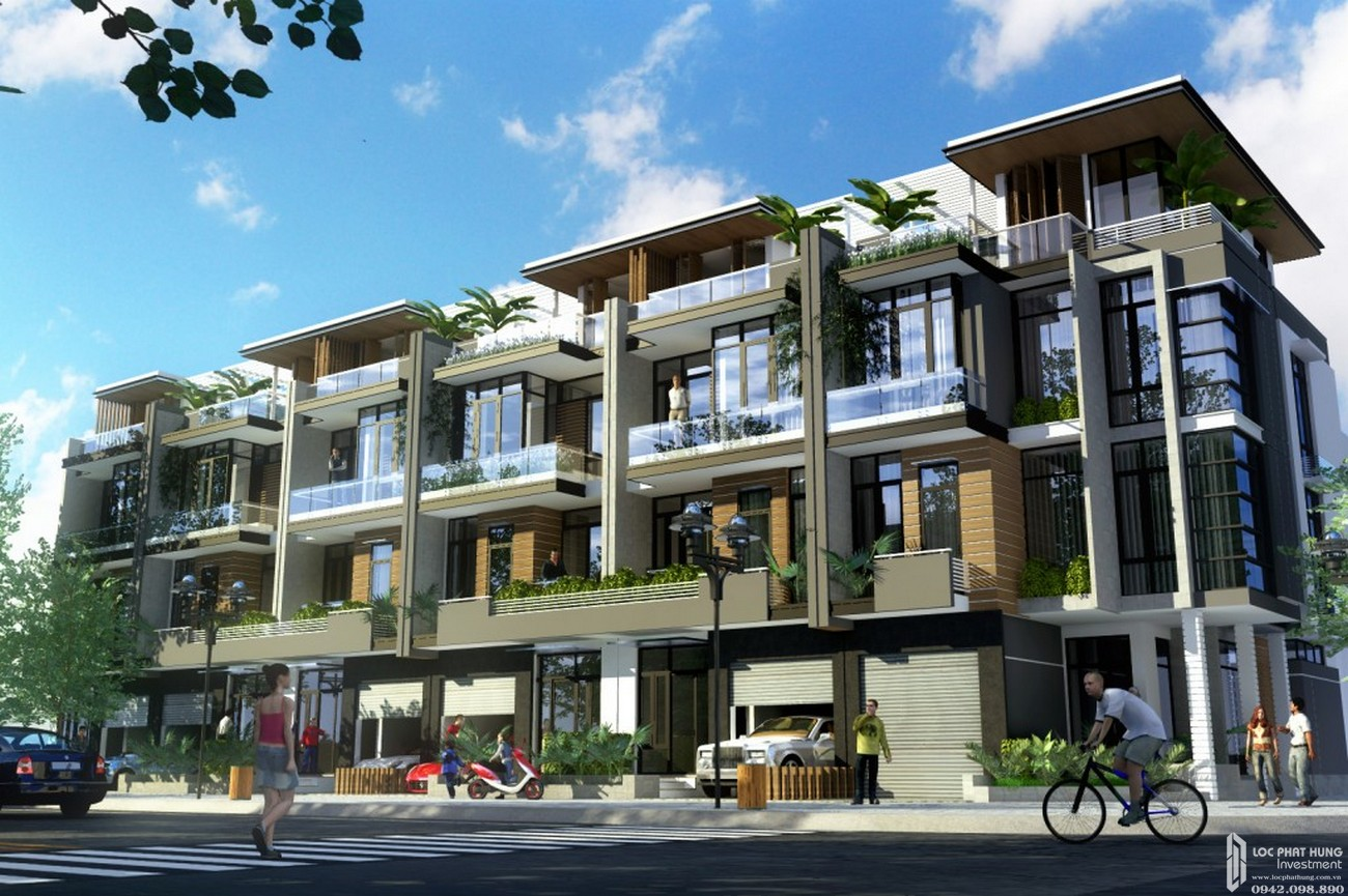 Thiết kế dự án nhà phố Topia Garden Quận 9 Đường Bưng Ông Thoàn chủ đầu tư Khang Điền