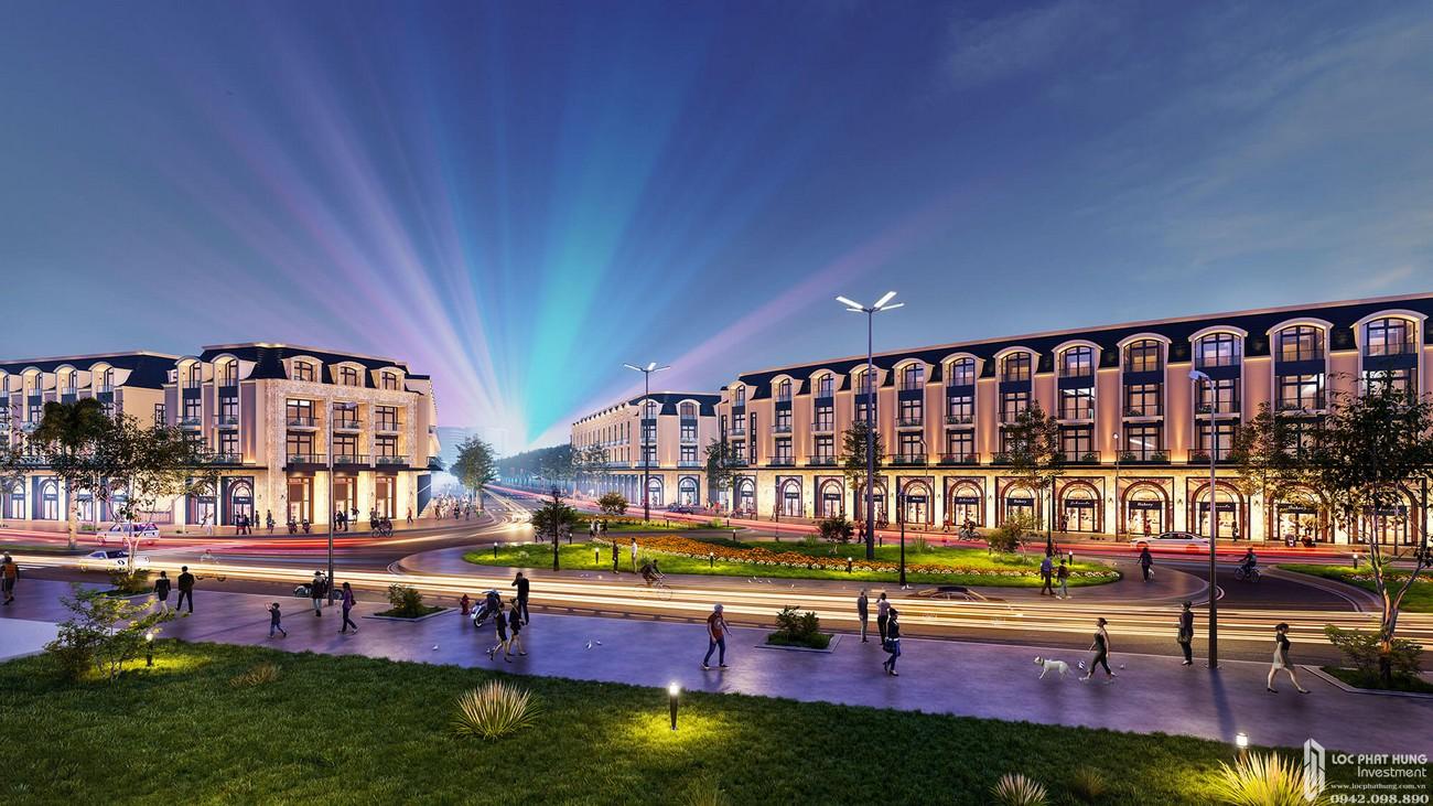 Phối cảnh tổng thể dự án Nhà phố Diamond Central Biên Hòa Đường Võ Thị Sáu chủ đầu tư Gotec Land