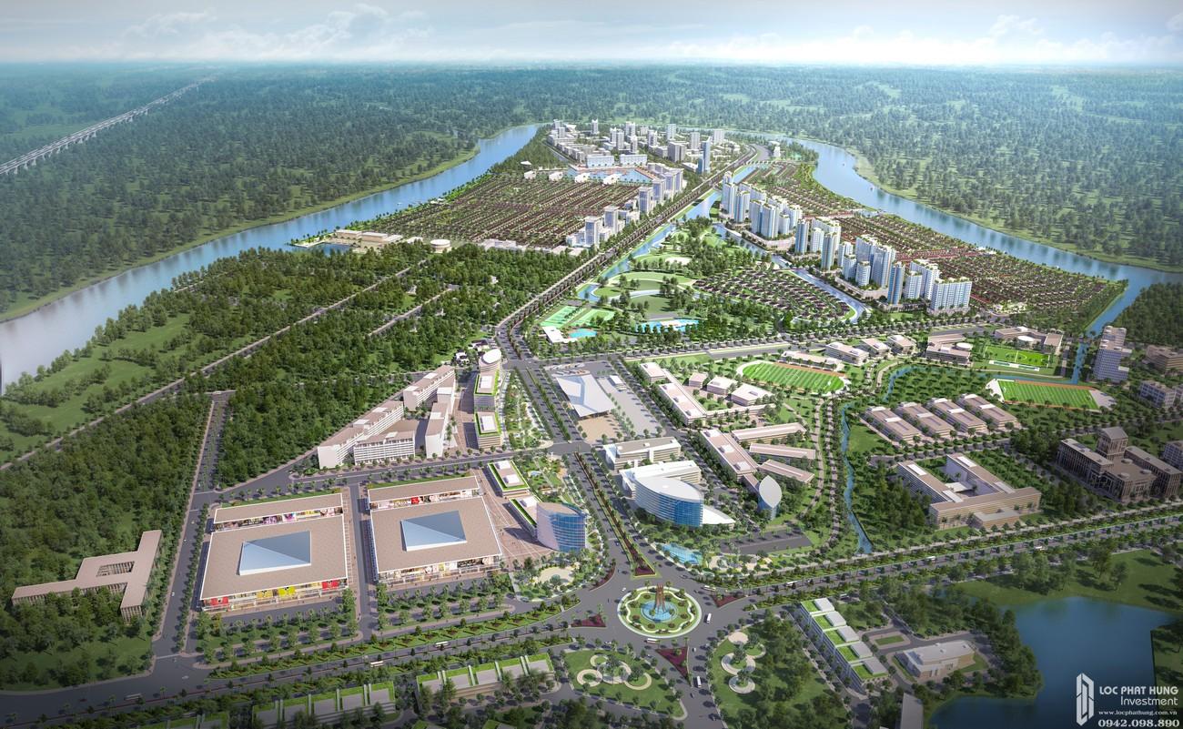 Phối cảnh tổng thể dự án đất nền nhà phố Waterpoint Long An Đường Tỉnh lộ 830 chủ đầu tư Nam Long