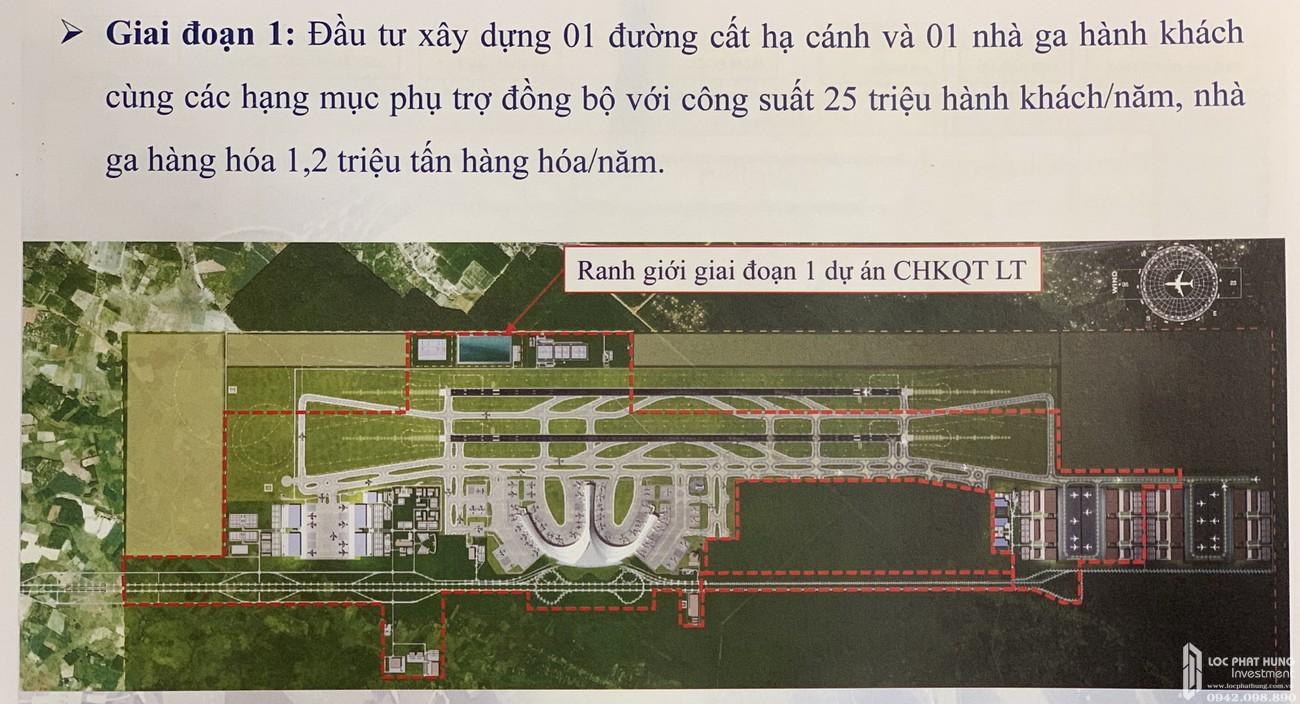 Mặt Bằng dự án sân bay quốc tế Long Thành bên cạnh dự án đất nền Gem Sky World