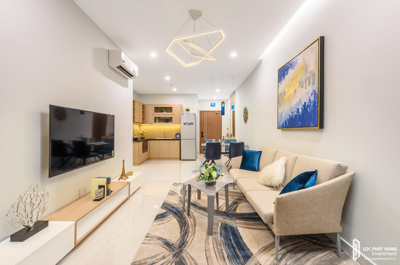 Thiết kế căn bếp và phòng khách căn hộ 3 phòng ngủ của dự án Lovera Vitsa