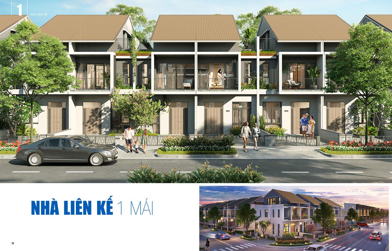 Thiết kế nhà liên kế 1 mái dự án Gem Sky World Đất Xanh Long Thành