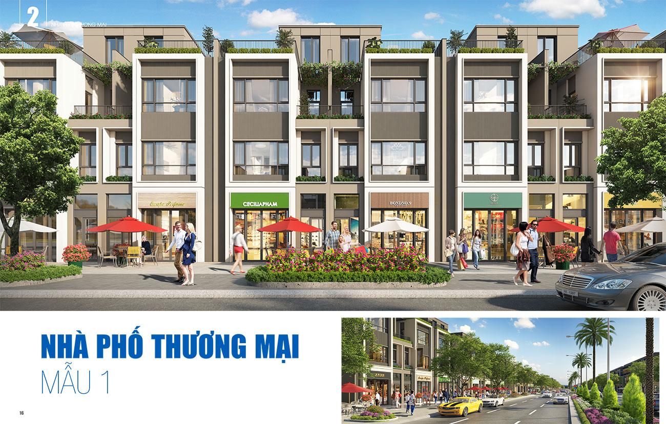 Thiết kế nhà phố thương mại loại 1 dự án Gem Sky World Đất Xanh Long Thành