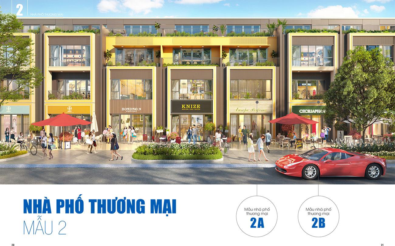 Thiết kế nhà phố thương mại loại 2 dự án Gem Sky World Đất Xanh Long Thành
