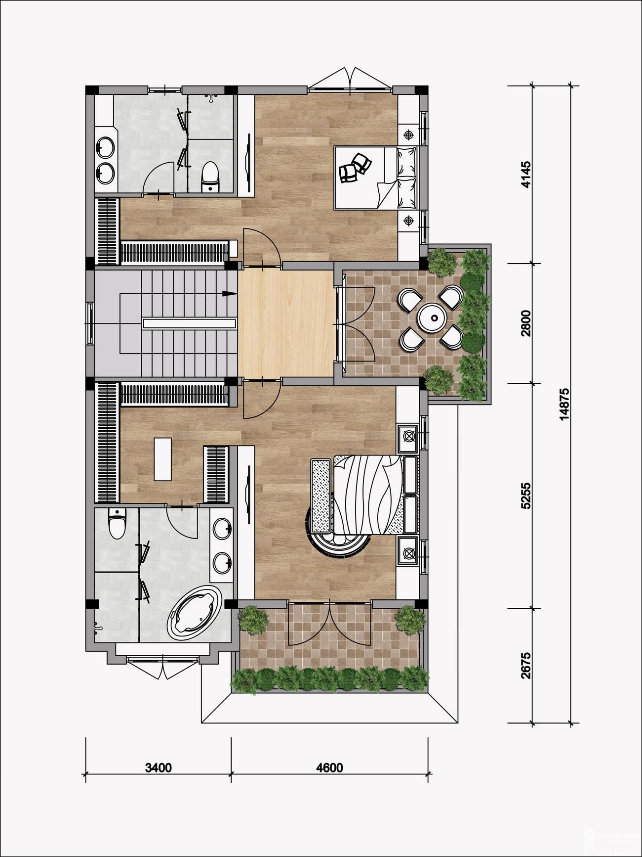 Thiết kế chi tiết Biệt thự đơn lập Gem Sky World Đất Xanh Đường Quốc Lộ 51 Long Thành