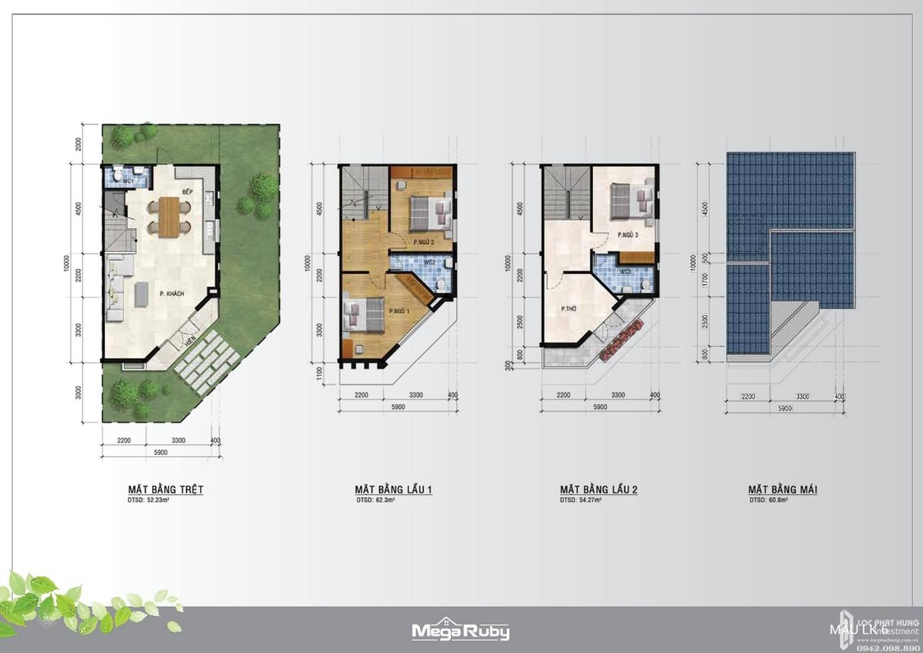 Thiết kế dự án nhà phố Mega Ruby Quận 9 chủ đầu tư Khang Điền