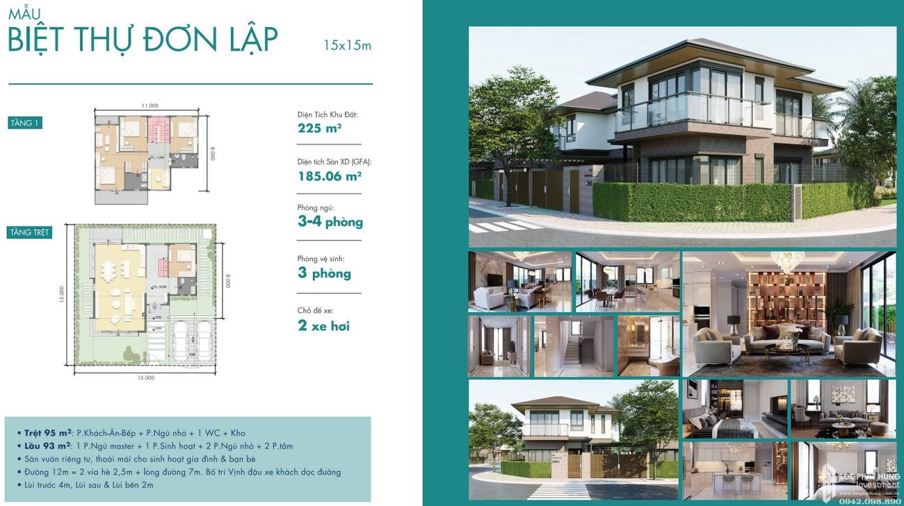 Thiết kế biệt thự đơn lập dự án Waterpoint Long An Đường Tỉnh lộ 830 chủ đầu tư Nam Long