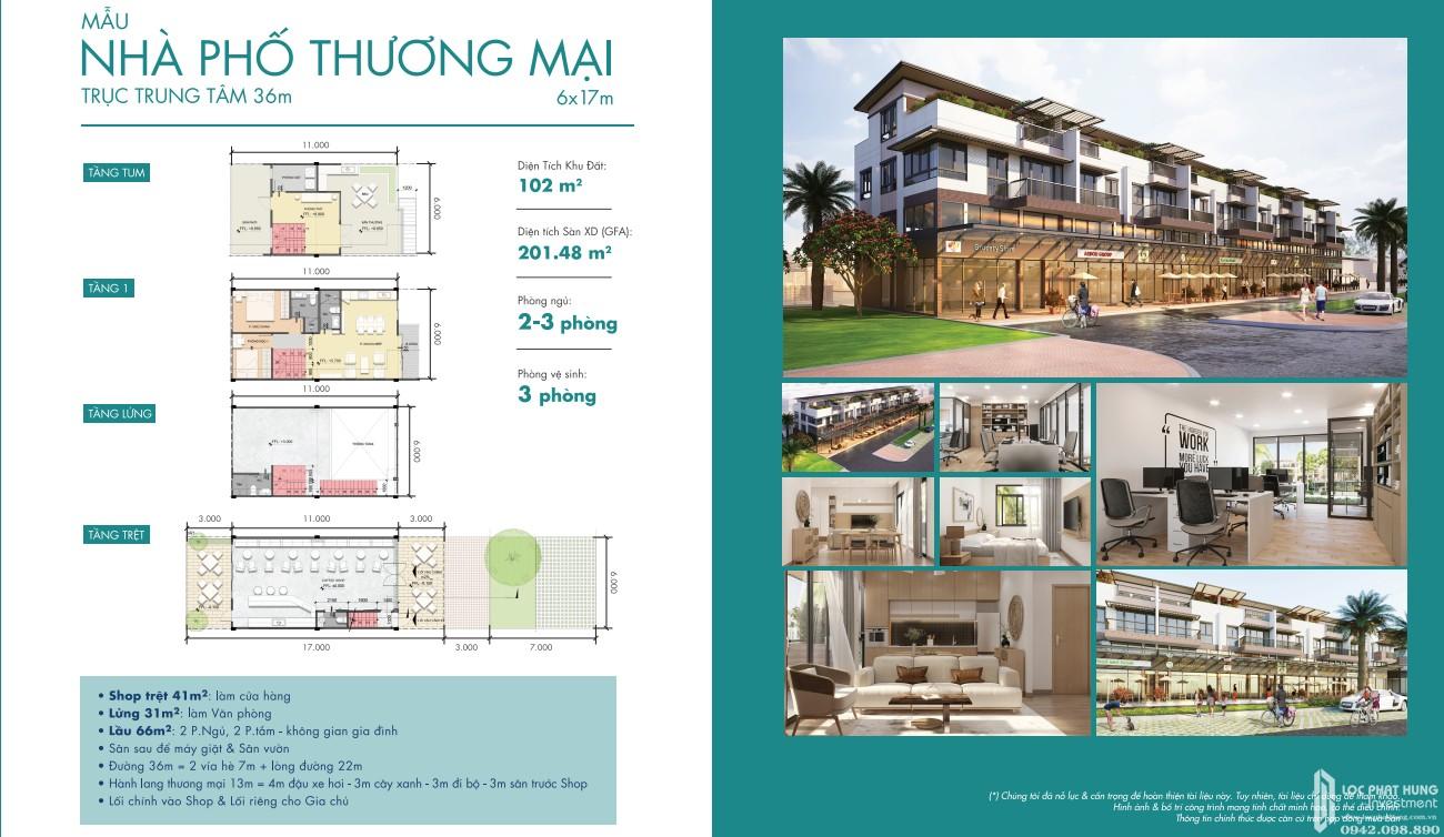 Thiết kế nhà phố thương mại dự án Waterpoint Long An Đường Tỉnh lộ 830 chủ đầu tư Nam Long