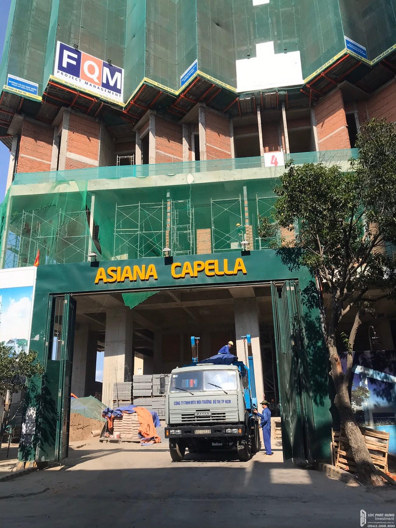 Tiến độ xây dựng căn hộ + Officetel dự án Asiana Capella 09/05/2020 – Nhận ký gửi mua bán + Cho thuê