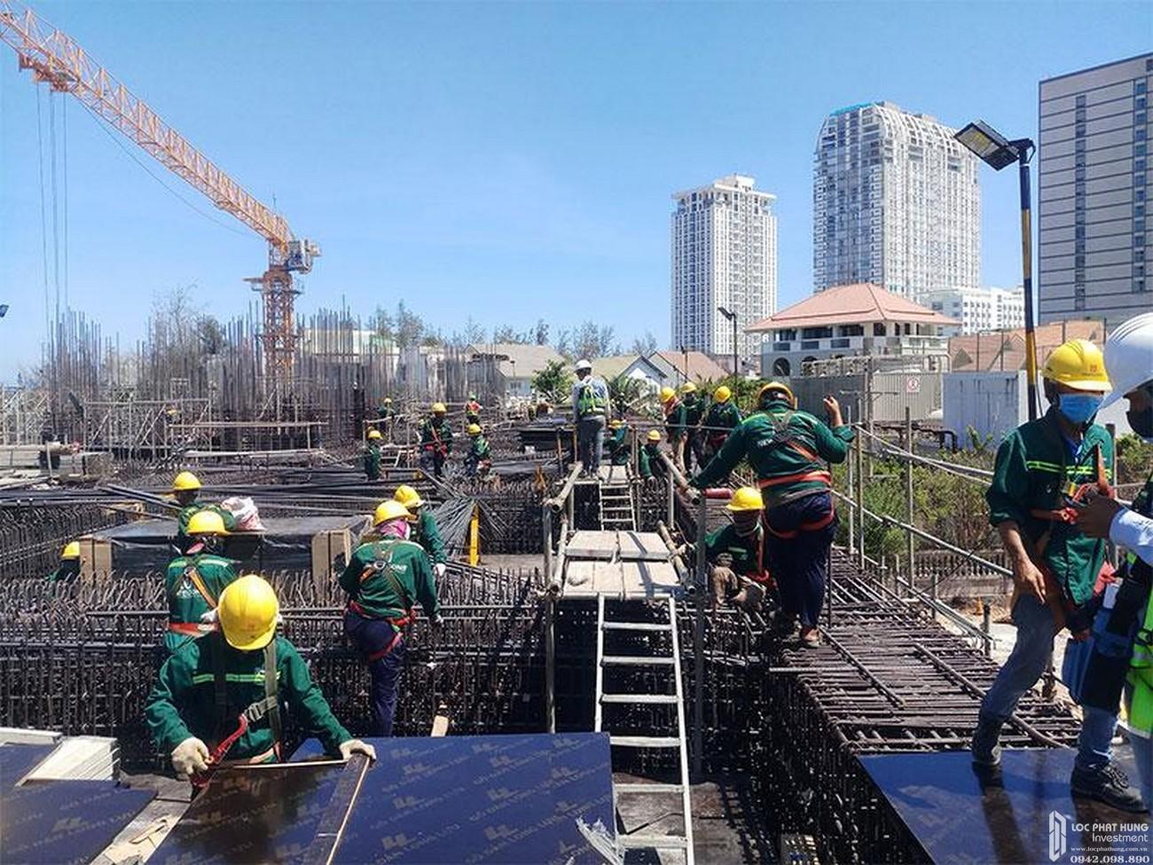 Tiến độ dự án căn hộ condotel The Sóng Vũng Tàu Đường Thi Sách chủ đầu tư An Gia Investment 04/05/2020