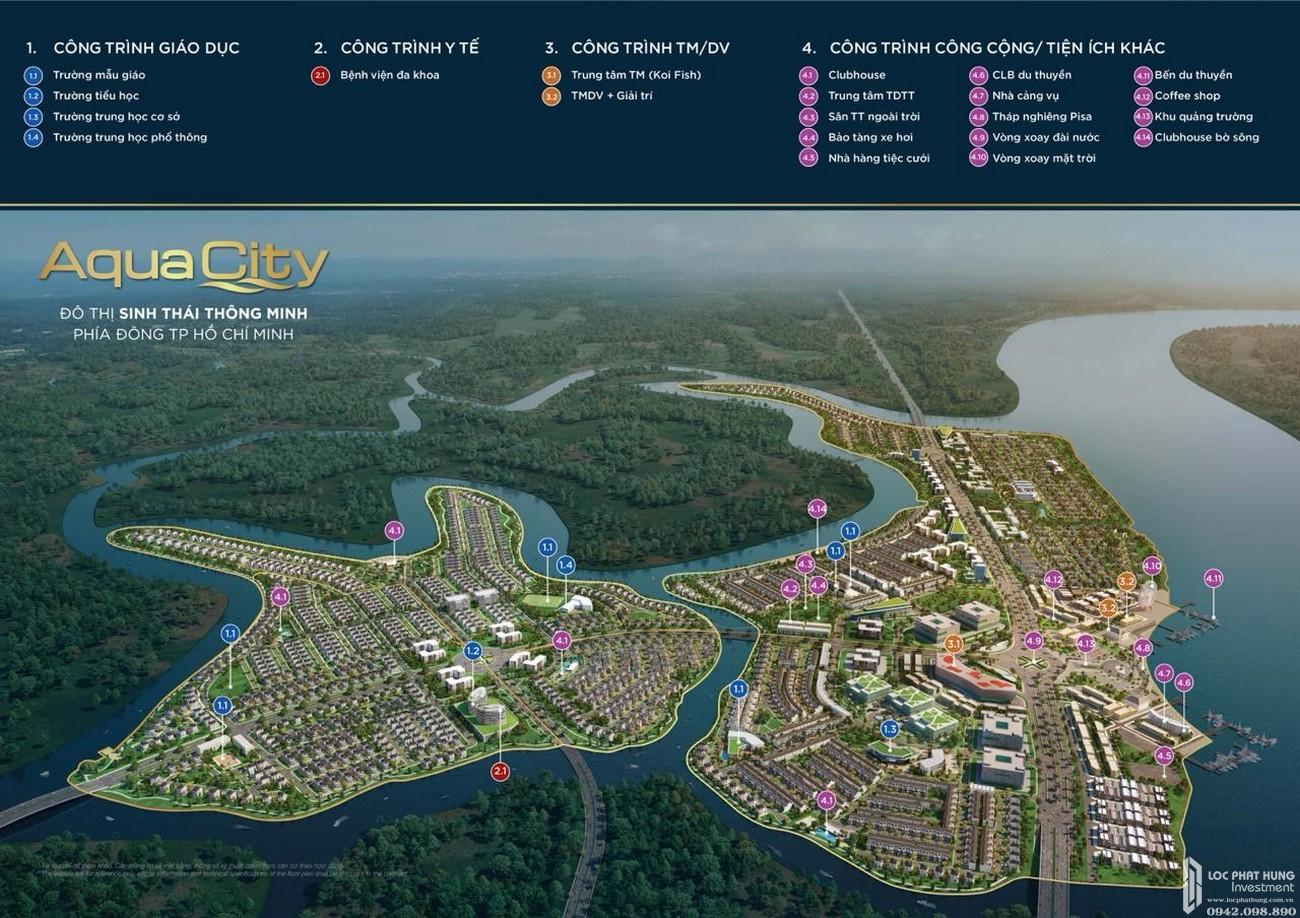 Tiện ích dự án Nhà Phố chung cư Aqua City Biên Hòa Đường Quốc lộ 51 chủ đầu tư Novaland