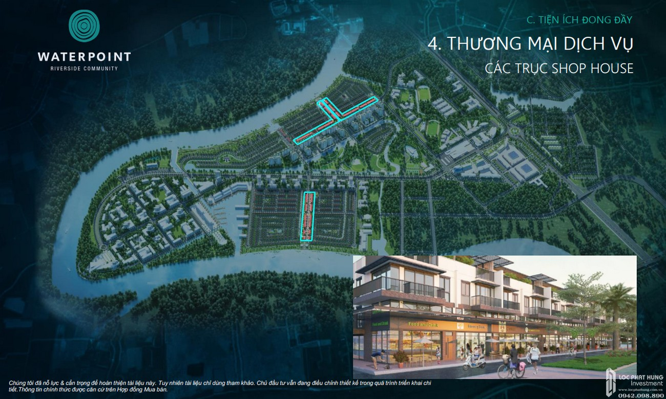 Tiện ích dự án đất nên nhà phố Waterpoint Bến Lức Đường Tỉnh lộ 830 chủ đầu tư Nam Long