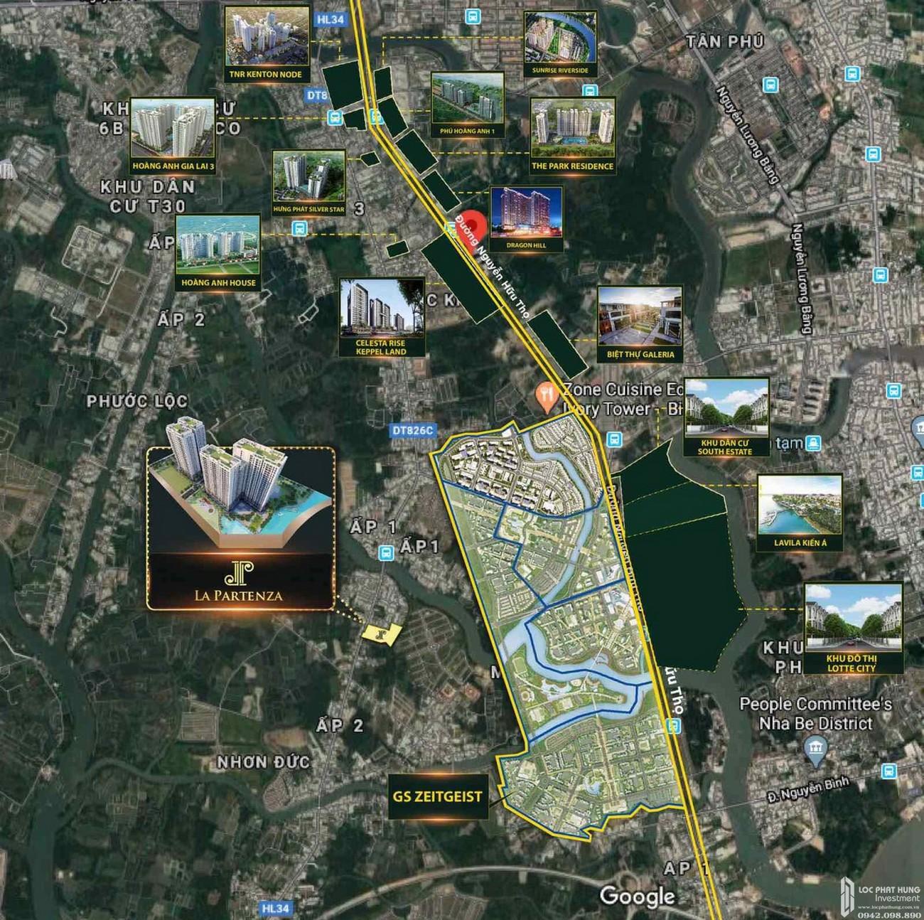 Vị trí đắc địa của dự án La Partenza Nhà Bè