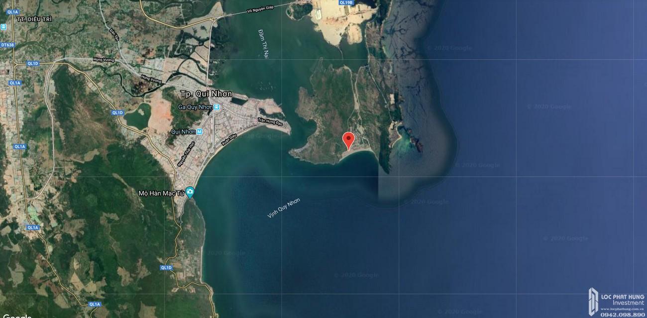 Vị trí địa chỉ dự án căn hộ biệt thự Merry City Quy Nhơn chủ đầu tư Hưng Thịnh