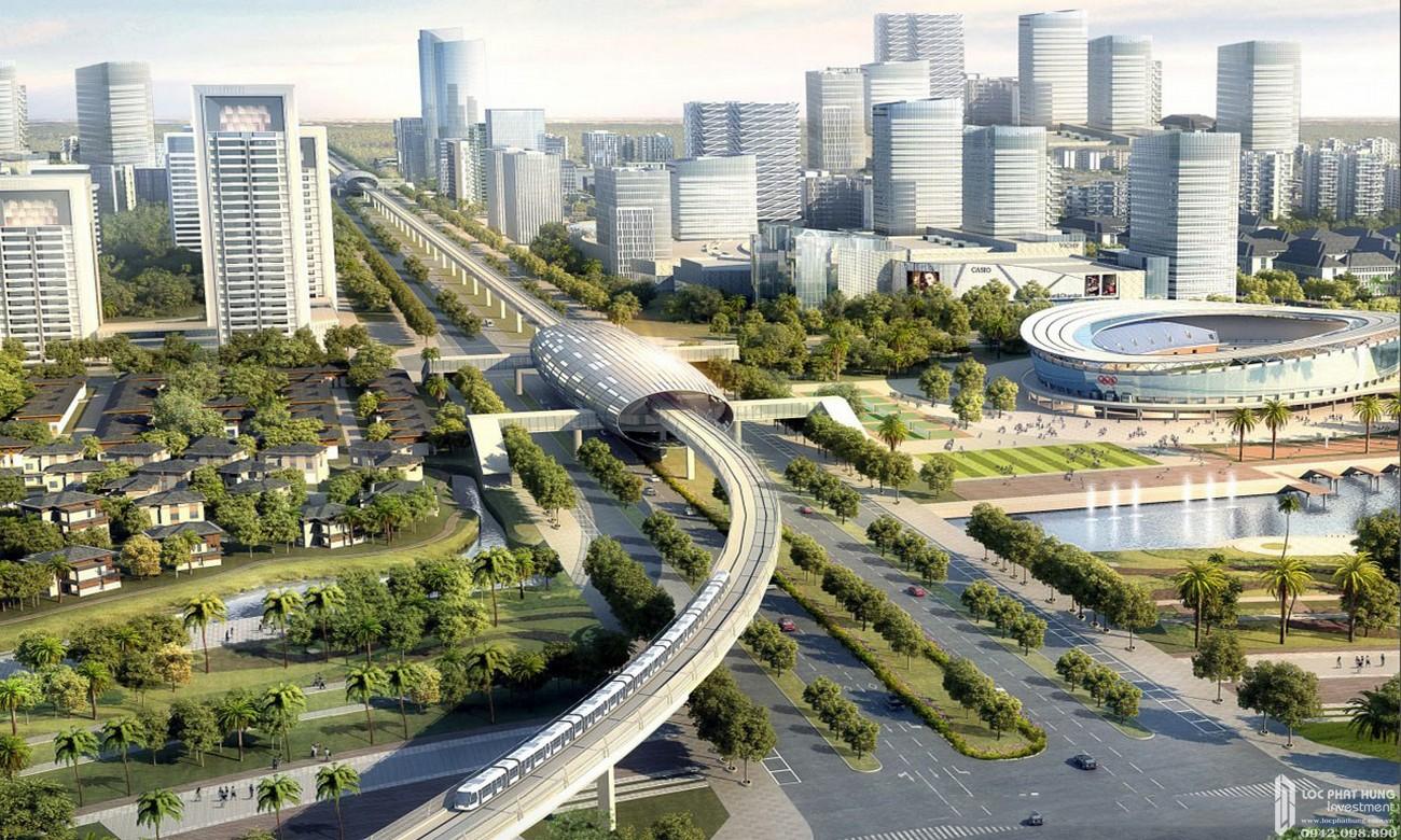 Cơ sở hạng tầng giao thông dự án Swan Park Nhơn Trạch