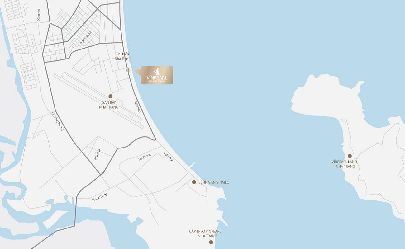 Vị trí dự án Condotel Vinpearl Condotel Beachfront Lộc thọ Đường Trần Phú chủ đầu tư Tập đoàn Vin Group