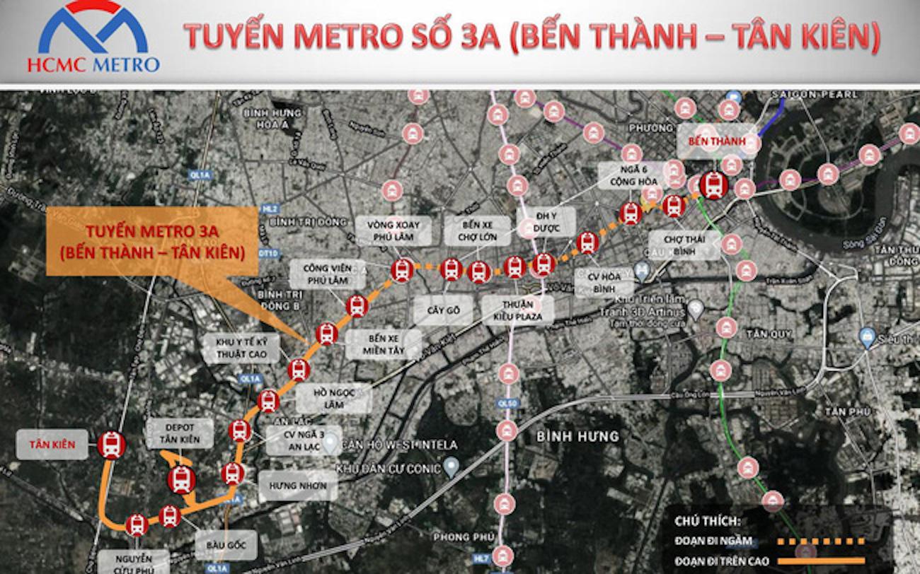 """West Gate Bình Chánh đứng trước cơ hội """"vàng"""" nhờ tuyến Metro 3A"""