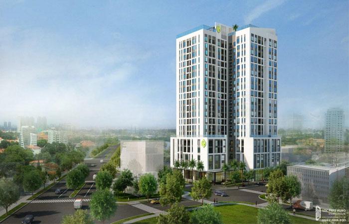Phối cảnh tổng thể dự án căn hộ chung cư Kingston Residence Phú Nhuận Đường Hoàng Văn Thụ nhà phát triển Novaland