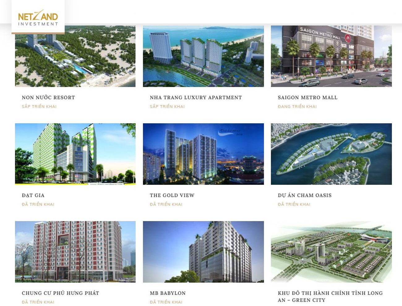 Chủ đầu tư dự án căn hộ The Aston Nha Trang đã triển khai các dự án