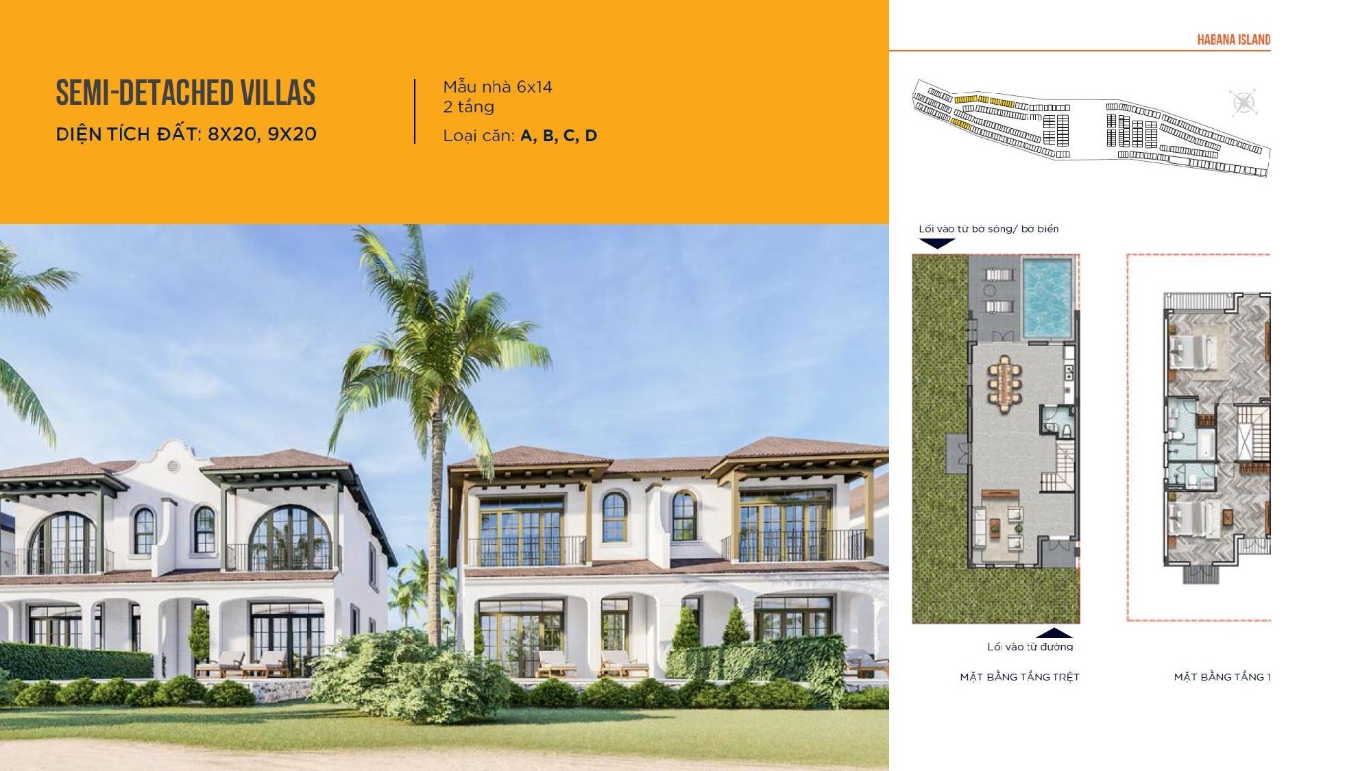 Thiết kế nhà mẫu Semi-Detached Villas  8x20, 9x20 Novaworld Đà Lạt nhà phát triển Novaland