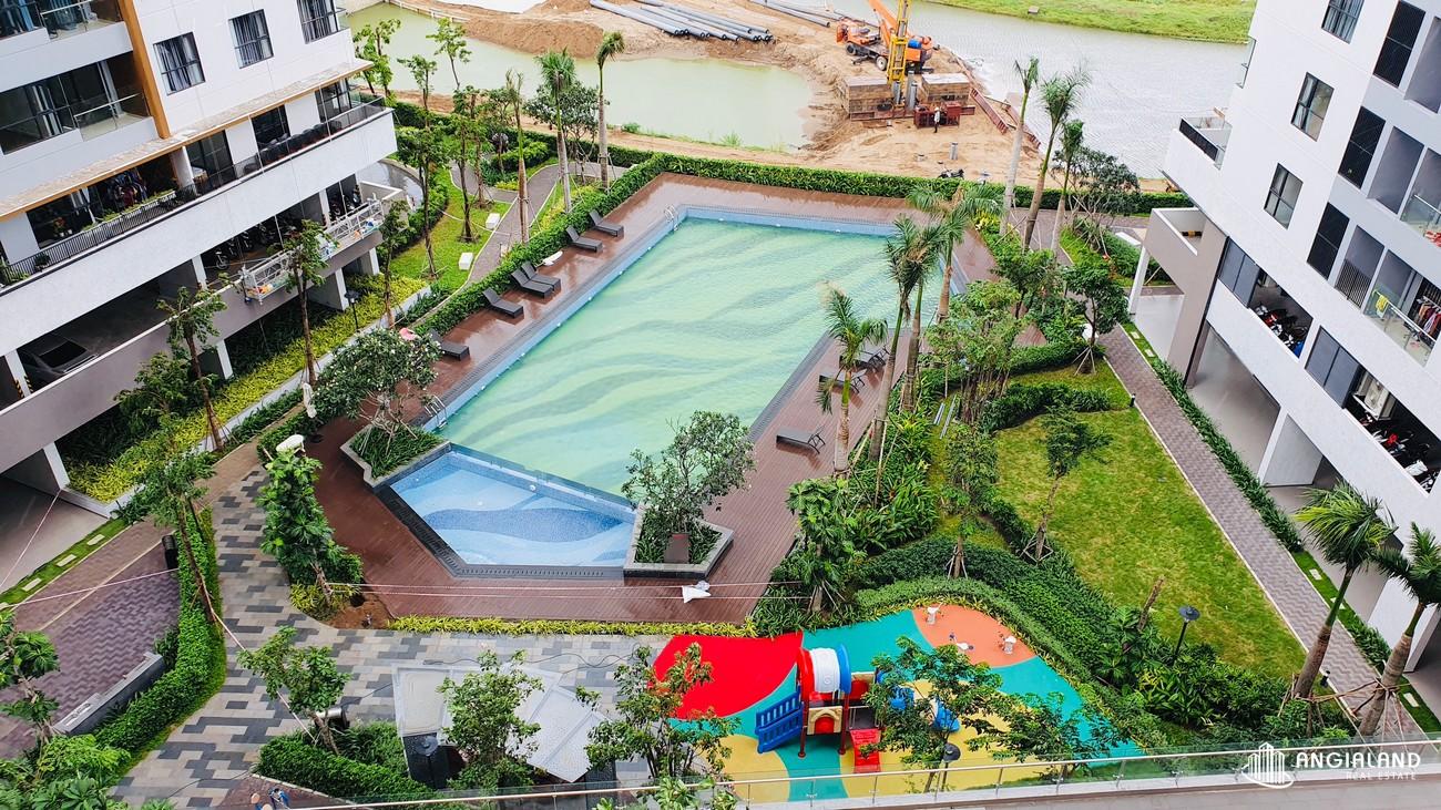 Ảnh thực tế sân vườn Mizuki Park Bình Chánh Nam Long