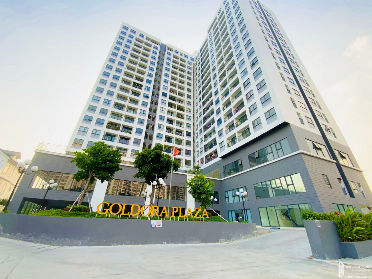 Hình ảnh thực tế dự án căn hộ Goldora Plaza Nhà Bè
