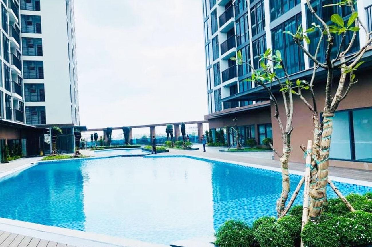 Hình thực tế hồ bơi dự án căn hộ chung cư Eco Green Sài Gòn Quận 7 tháng 09/2020