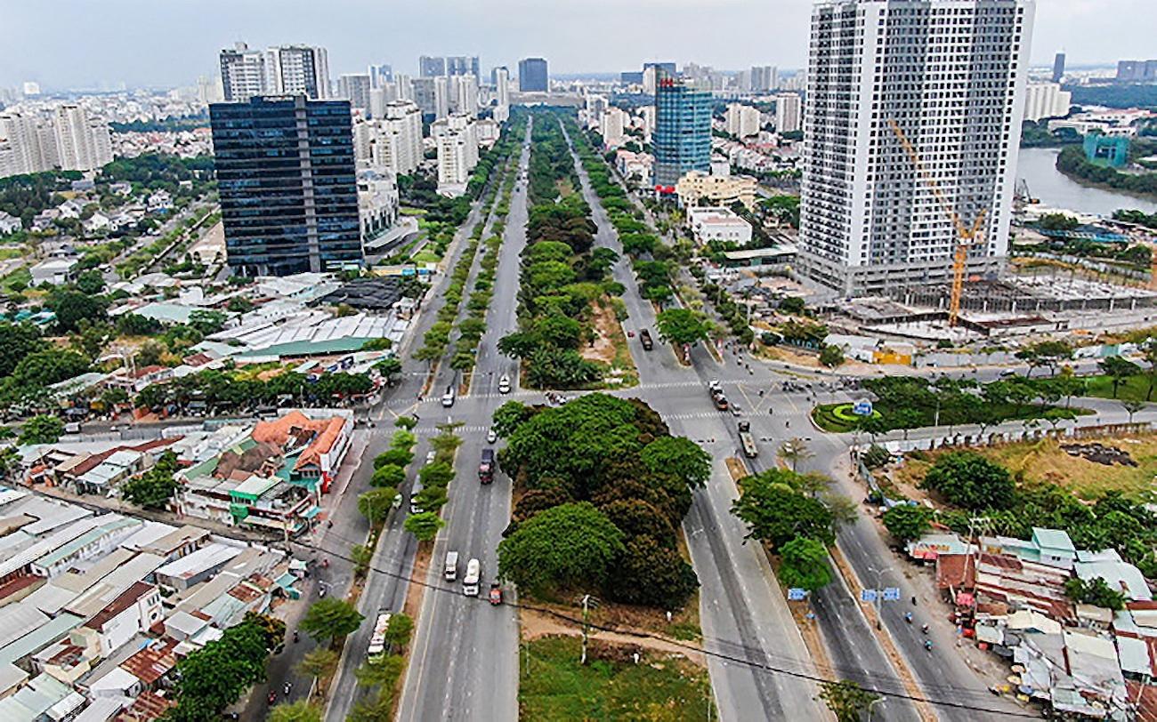 Nút giao Nguyễn Văn Linh - Nguyễn Hữu Thọ là đầu mối giao thông quan trọng kết nối khu Nam với các khu vực khác, tạo sức bật đột phá cho Nhà Bè và các đô thị vệ tinh phía Nam