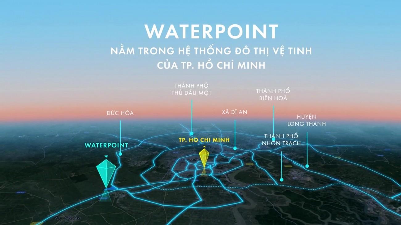 Liên kết vùng dự án biệt thự nhà phố Waterpoint Long An Đường Tỉnh lộ 830 chủ đầu tư Nam Long