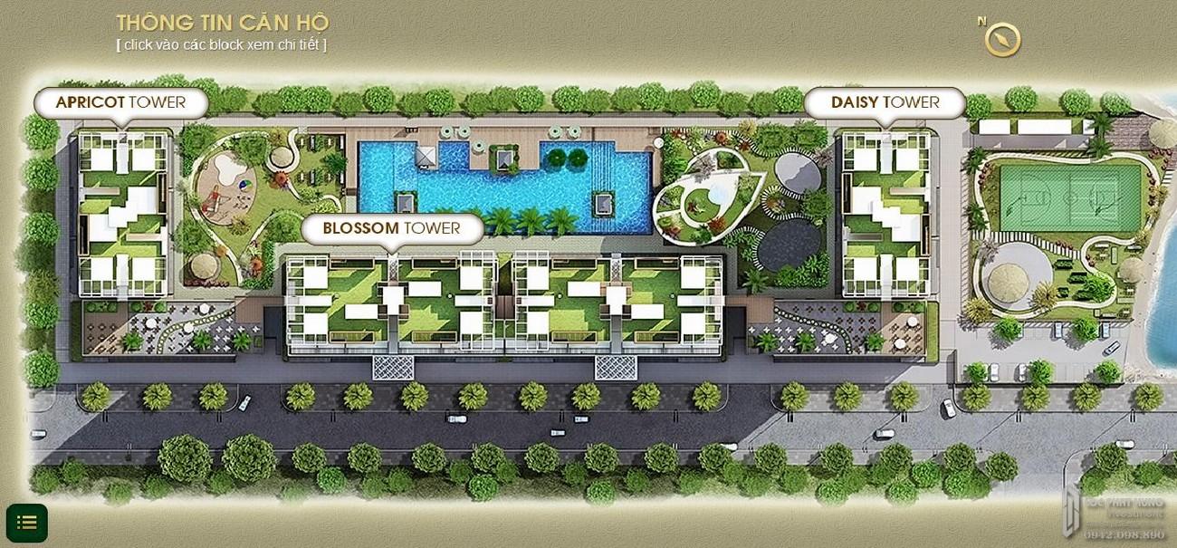 Mặt bằng dự án căn hộ chung cư The Park Residence Nhà Bè Đường Nguyễn Hữu Thọ chủ đầu tư Phú Hoàng Anh