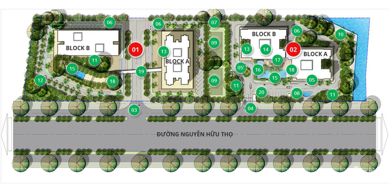 Mặt bằng dự án căn hộ chung cư Dragon Hill Residence and Suites 2 Nhà Bè Đường Nguyễn Hữu Thọ chủ đầu tư Phú Long