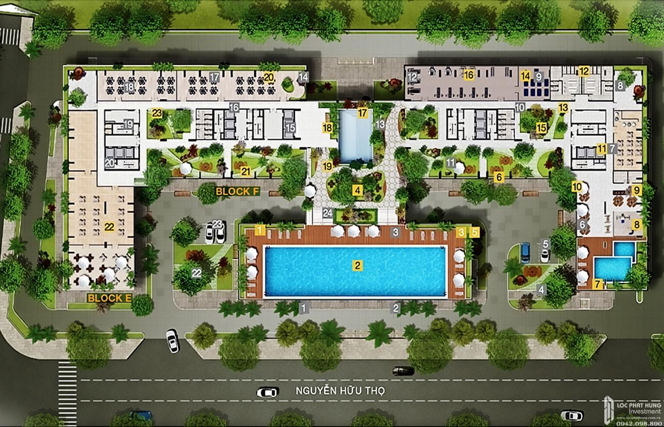 Mặt bằng dự án căn hộ chung cư Park Vista Nhà Bè Đường Nguyễn Hữu Thọ chủ đầu tư Đông Mê Kông