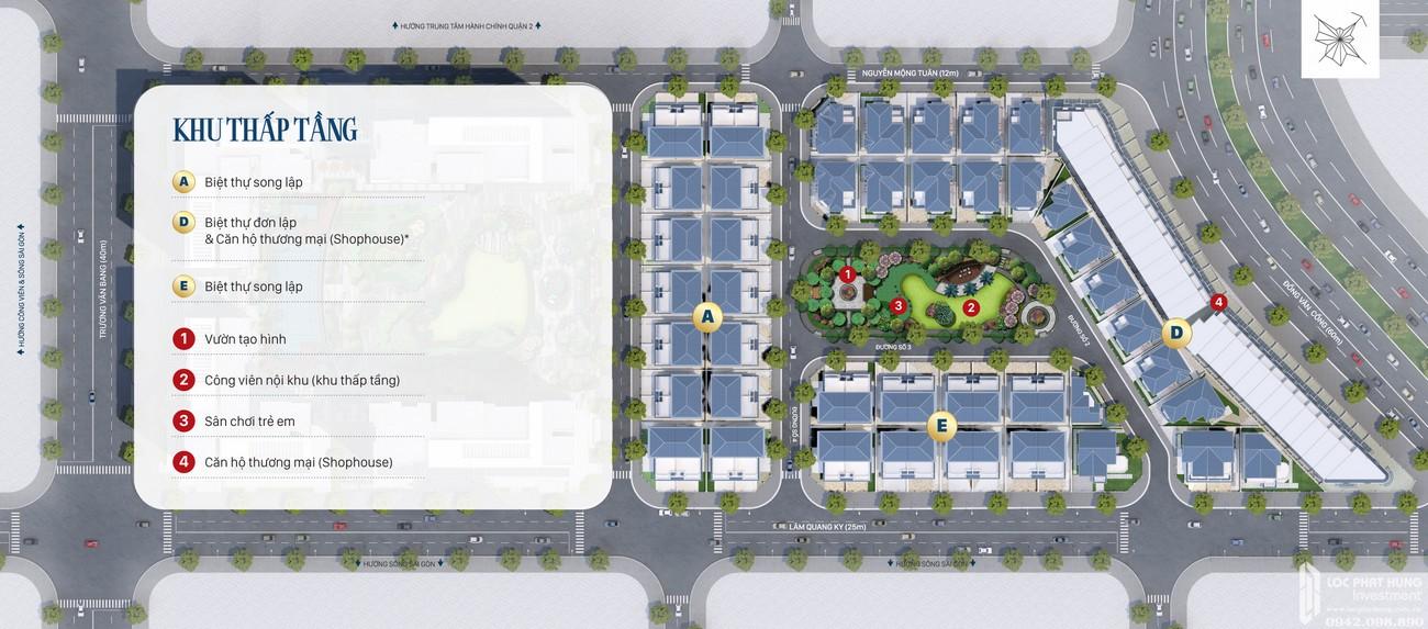 Mặt bằng dự án căn hộ chung cư Victoria Village Quận 2 Đường Đồng Văn Cống chủ đầu tư Novaland