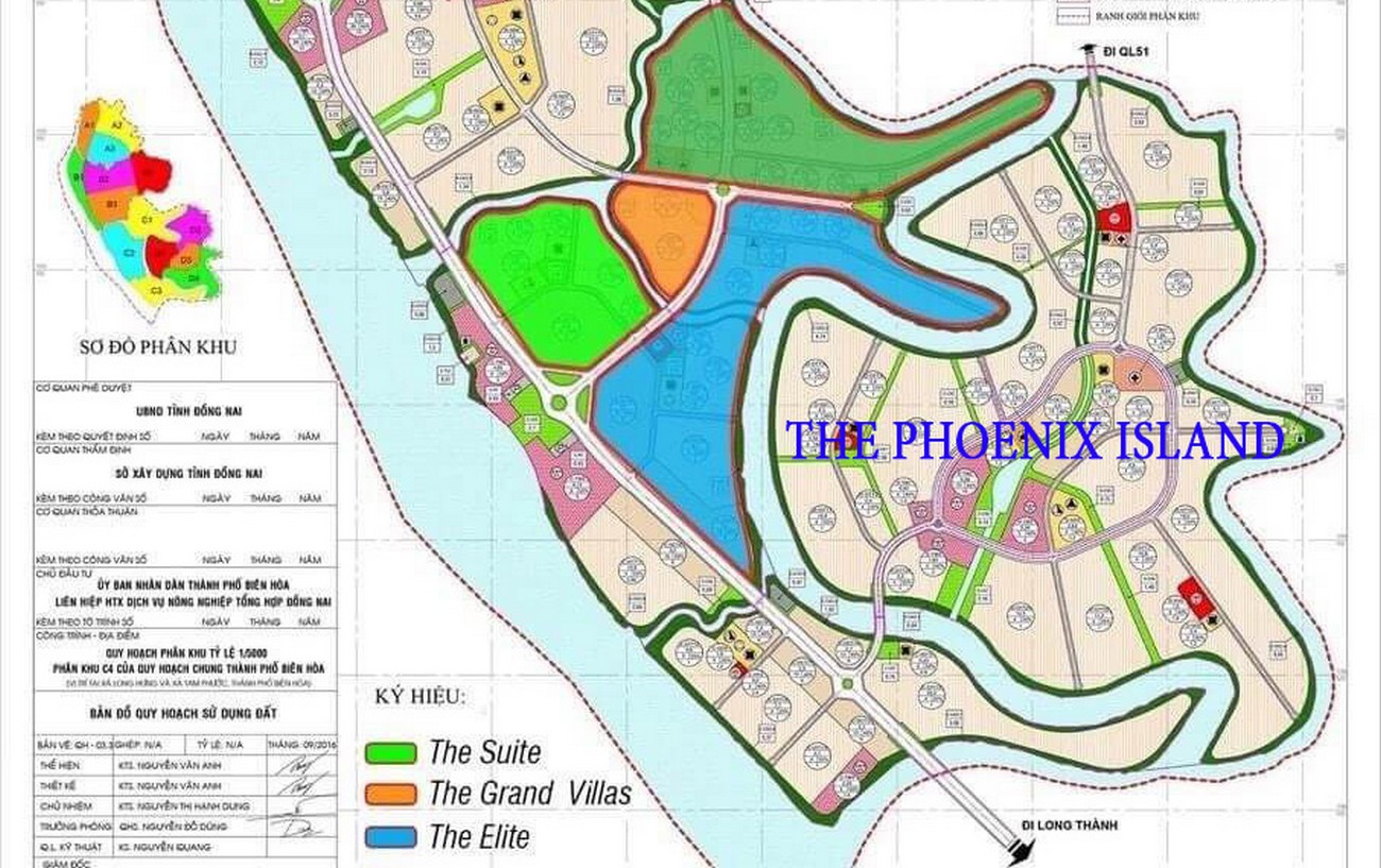 Mặt bằng dự án nhà phố Aqua City The Phoenix South Biên Hòa Đồng Nai chủ đầu tư NovaLand
