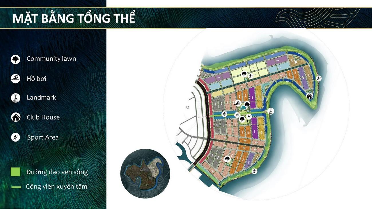 Mặt bằng dự án The Phoenix South - Đảo Phụng Hoàng Đồng Nai nhà phát triển NovaLand
