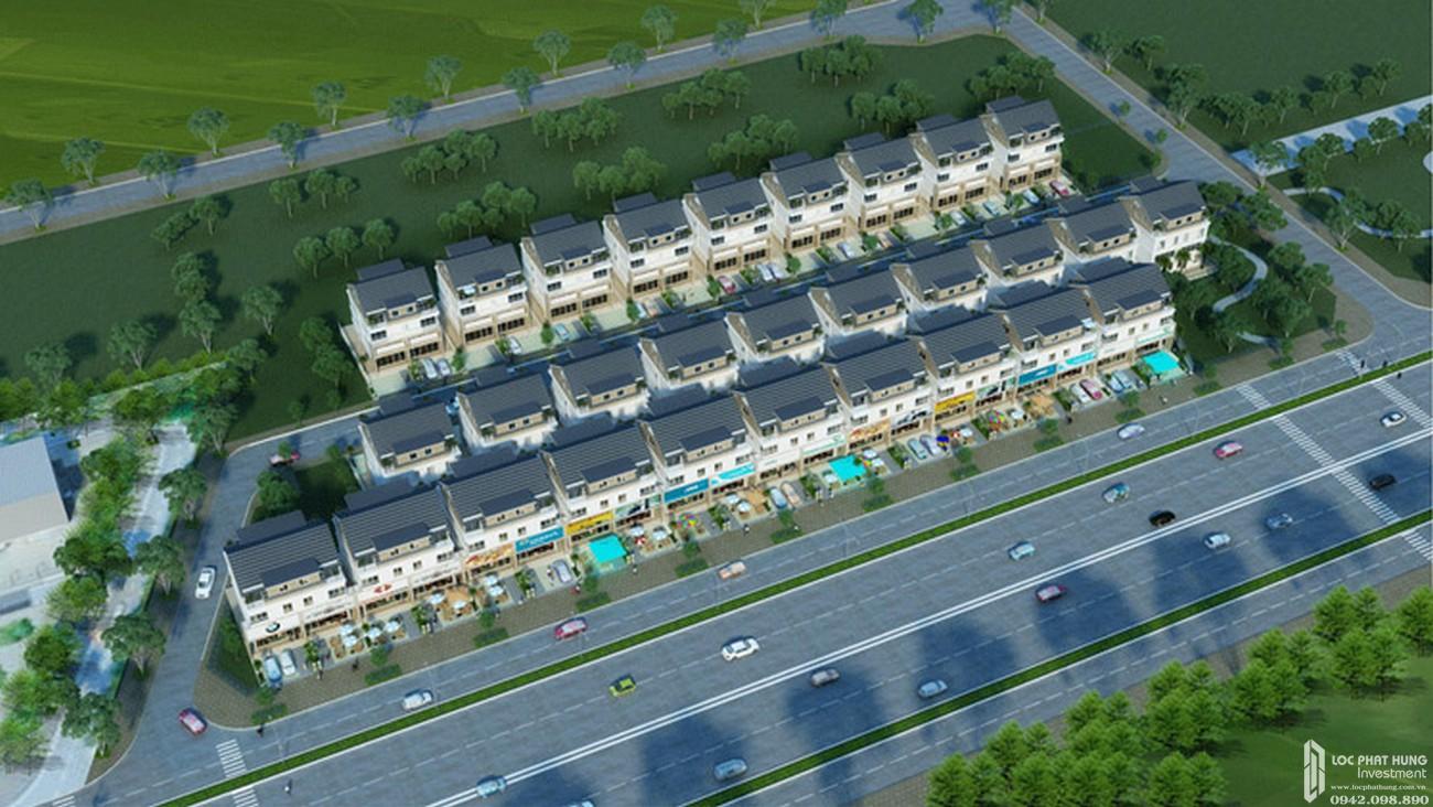 Mặt bằng dự án nhà phố Dragon Parc Nhà Bè đường Nguyễn Hữu Thọ chủ đầu tư Phú Long