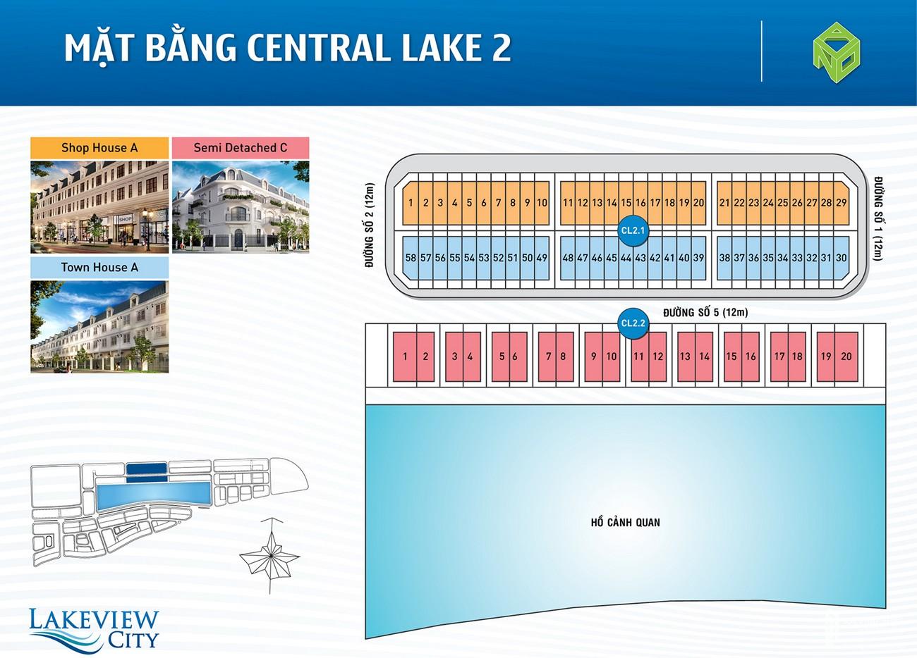 Mặt bằng dự án nhà phố Lakeview City Quận 2 Đường Cao tốc Long Thành - Dầu Giây chủ đầu tư NovaLand