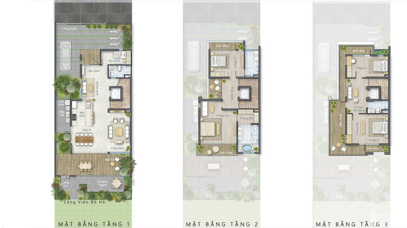 Mặt bằng dự án nhà phố Lavila Nhà Bè Đường Nguyễn Hữu Thọ chủ đầu tư Kiến Á