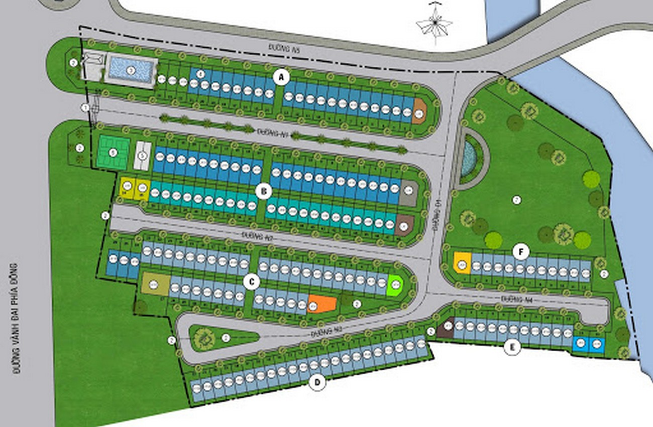 Mặt bằng dự án nhà phố Mega Residence Quận 9 Đường Vành Đai Trong chủ đầu tư Khang Điền