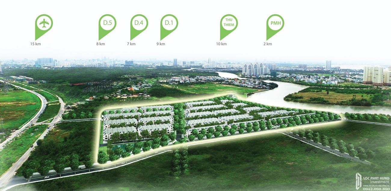 Mặt bằng dự án nhà phố Nine South Estates Nhà Bè Đường Nguyễn Hữu Thọ chủ đầu tư VinaCapital