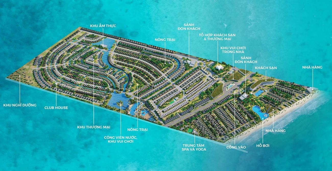 Mặt bằng dự án nhà phố Novaworld Hồ Tràm Bình Châu nhà phát triển Novaland