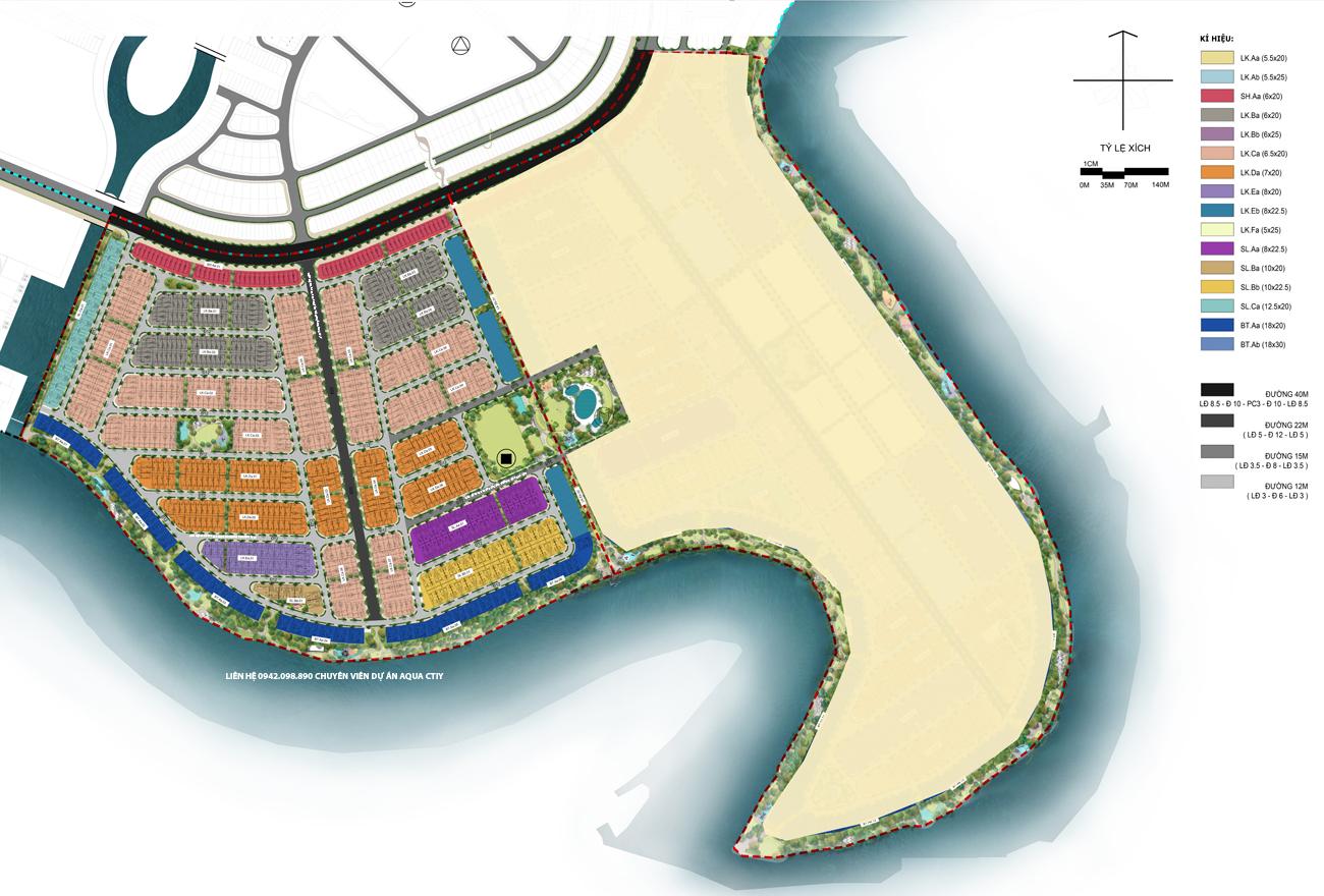 Mặt bằng chi tiết nhà phố Aqua City The Phoenix South Đồng Nai