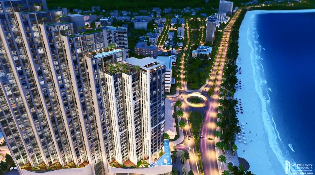 Phối cảnh tổng thể dự án căn hộ condotel Scenia Bay Nha Trang Đường Phạm Văn Đồng chủ đầu tư Nam Tiến Lào Cai